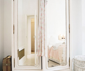 mirror, white, and closet image