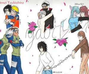 death note, naruto, and yaoi image