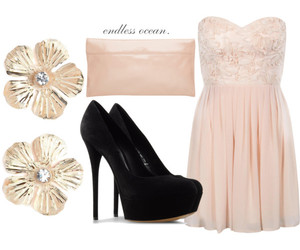 clothes, clutch, and dress image