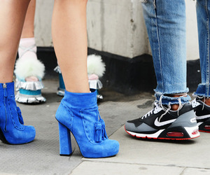 blue, heels, and nike image