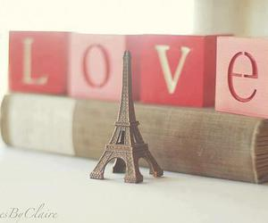 love, paris, and book image