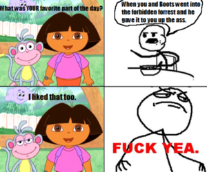 cereal, Dora, and comic image