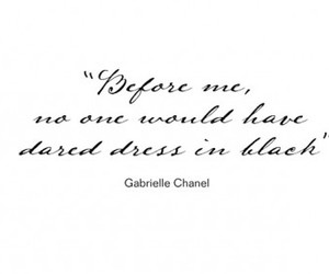 quote, black, and chanel image