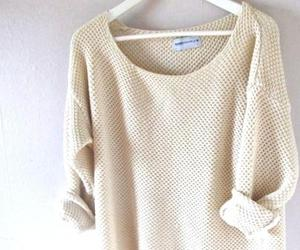 beige, pretty, and sweater image