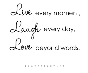 quote, love, and live image