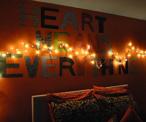 light, room, and heart image