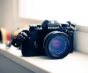 nikon, camera, and photography image