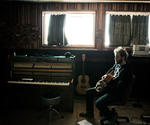bon iver, man, and music image