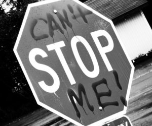 stop, black and white, and photography image