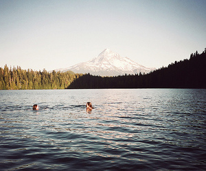 lake, water, and people image