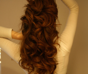 beautiful, brown hair, and curly hair image