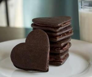 chocolate, Cookies, and heart image