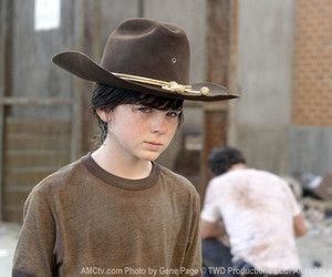 carl and the walking dead image