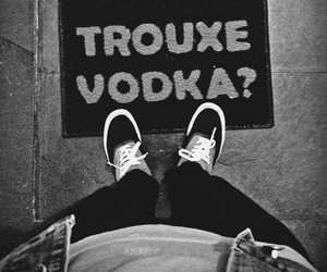 vodka and black and white image