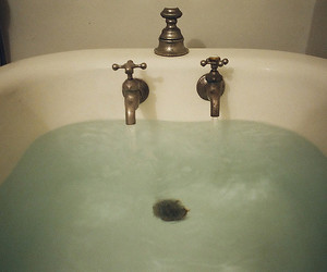 water, bath, and vintage image
