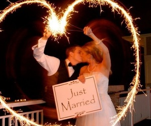 love, beautiful, and bride image