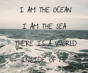 sea, ocean, and quote image
