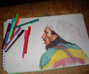 art, creative, and dreads image