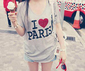 paris, ice cream, and ı love paris image