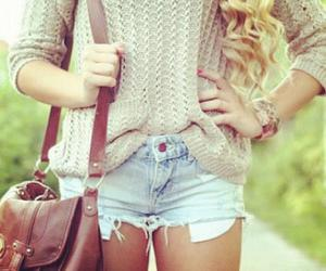 bag, blond, and pretty image