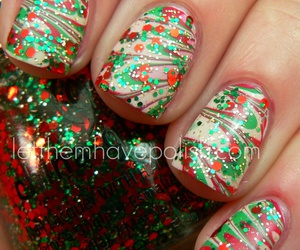 nails, christmas, and glitter image