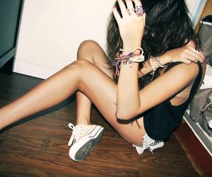 all star, bracelets, and brunette image