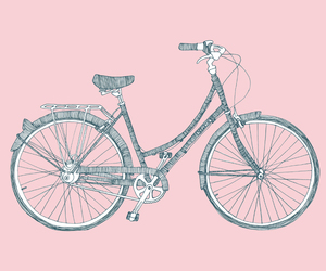 pink, bike, and cute image