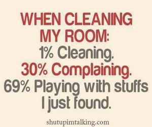 cleaning, funny, and room image