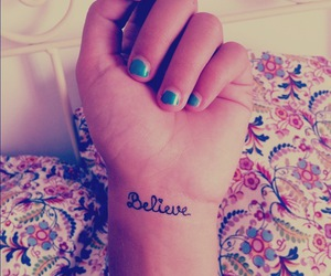 believe, me, and tattoo image