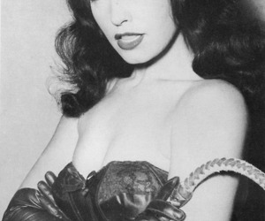 bdsm, Bettie Page, and black image
