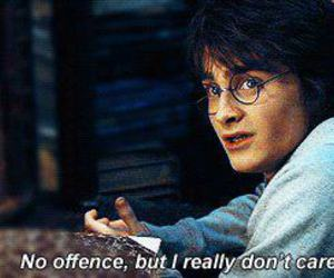 harry potter, i don't care, and daniel radcliffe image