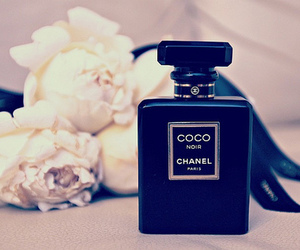 chanel, perfume, and flowers image