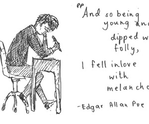 quote, edgar allan poe, and text image