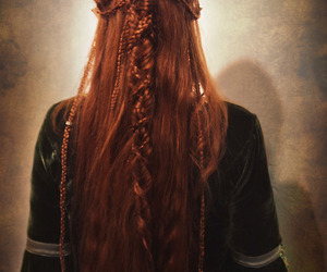 hair, medieval, and red hair image