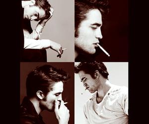 cigarrets, robert pattinson, and fucking hot image