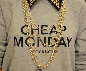 fashion, cheap monday, and gold image