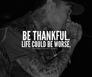 life, text, and thankful image