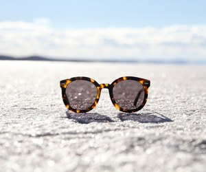 sunglasses, summer, and beach image