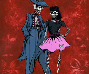 date, skull, and valentine's image