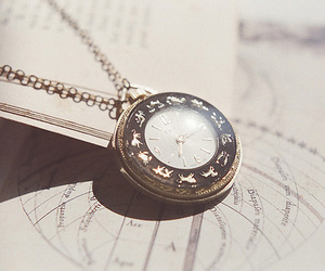 pocket watch, vintage, and cute image