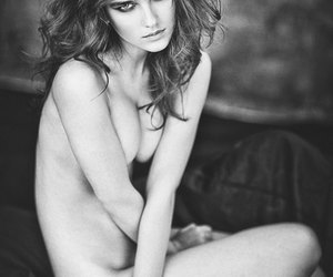 beauty, black and white, and photography image