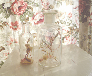 bottle, flowers, and pretty image