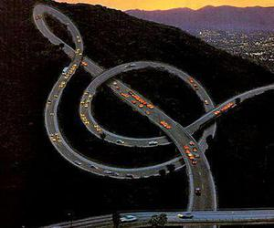 music, hollywood, and road image