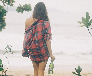 girl, beach, and alcohol image
