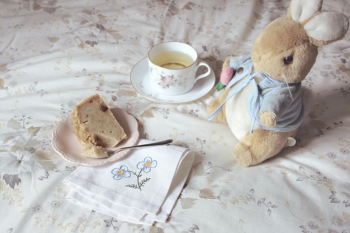 tea, cute, and bunny image