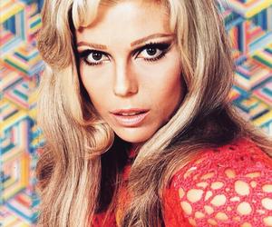 1960s, blonde, and eyeliner image