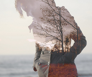 girl, photography, and tree image