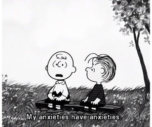 black and white, charlie, and anxieties image
