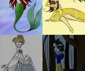 disney, princess, and tim burton image