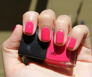 pink, nails, and cute image